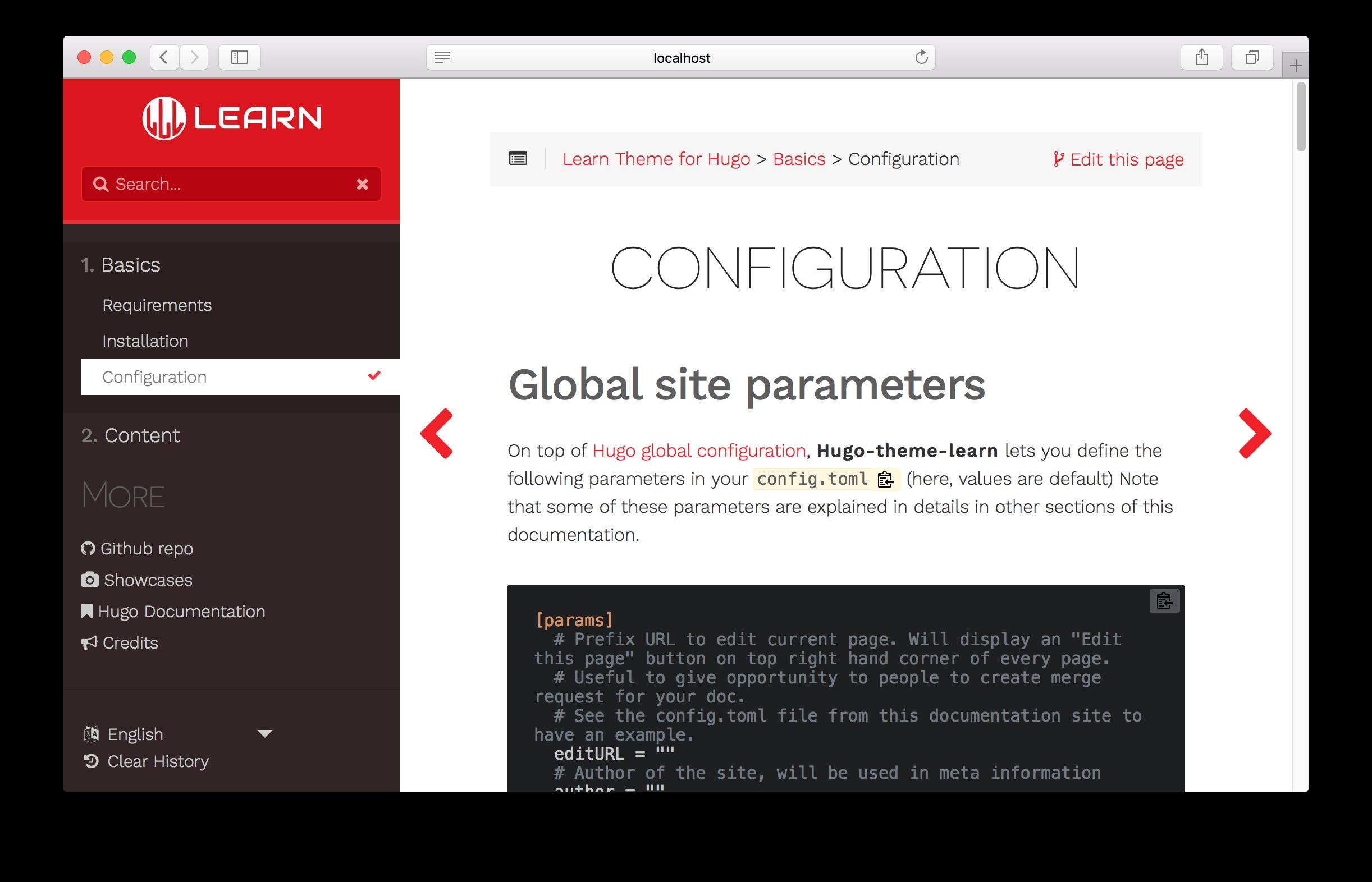 Style customization :: Documentation for Hugo Learn Theme